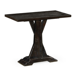 Jonathan Charles Casually Country Dark Ale Rectangular Side Table