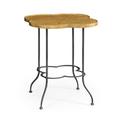 Jonathan Charles Casually Country Quatrefoil Limed Chestnut Lamp Table
