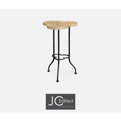 Jonathan Charles Casually Country Trefoil Limed Chestnut Side Table