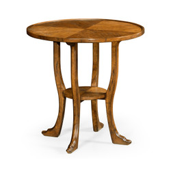 Jonathan Charles Casually Country Country Walnut Round Lamp Table