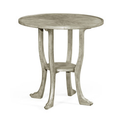 Jonathan Charles Casually Country Rustic Grey Round Lamp Table