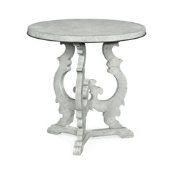 Jonathan Charles Casually Country Grey Mahogany End Table