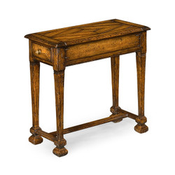 Jonathan Charles Huntingdon Narrow Walnut Side Table