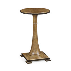 Jonathan Charles Cambridge Small Round English Brown Oak Wine Table
