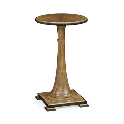 Jonathan Charles Cambridge Small Round English Brown Oak Wine Table