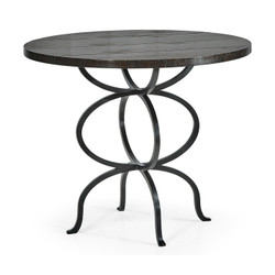 Jonathan Charles Casually Country Dark Ale Bistro Style Panelled Round Centre Table