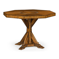 Jonathan Charles Casually Country Octagonal Country Walnut Centre Table