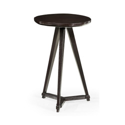 Jonathan Charles Architects House Circular Black Mocha Oak & Oyster Side Table