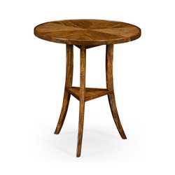 Jonathan Charles Casually Country Walnut Country Style Round Lamp Table
