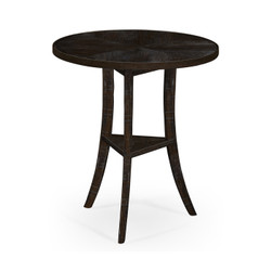Jonathan Charles Casually Country Dark Ale Country Style Round Lamp Table