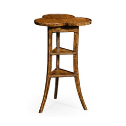 Jonathan Charles Casually Country Trefoil Side Table In Country Walnut