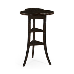 Jonathan Charles Casually Country Trefoil Side Table In Dark Ale