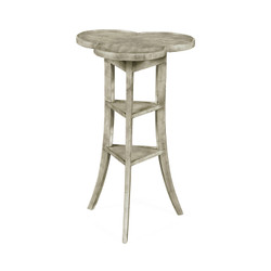 Jonathan Charles Casually Country Trefoil Side Table With Rustic Grey