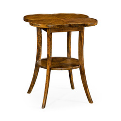 Jonathan Charles Casually Country Quatrefoil Lamp Table In Country Walnut