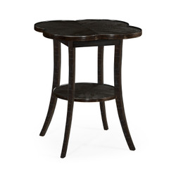 Jonathan Charles Casually Country Quatrefoil Lamp Table In Dark Ale