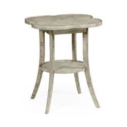 Jonathan Charles Casually Country Quatrefoil Lamp Table In Rustic Grey