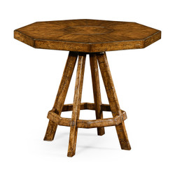 Jonathan Charles Casually Country Country Walnut Side Table With Octagonal Top