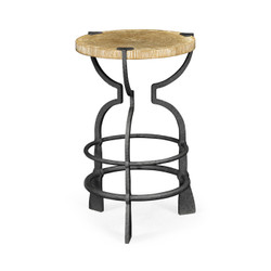 Jonathan Charles Casually Country Round Limed Chestnut & Iron Wine Table