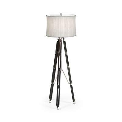 "Jonathan Charles Architects House 64"" Black Mocha Oak Architectural Floor Lamp"