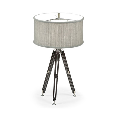 "Jonathan Charles Architects House 28"" Black Mocha Oak Architectural Table Lamp"