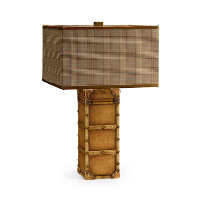Jonathan Charles Voyager Travel Trunk Style Table Lamp
