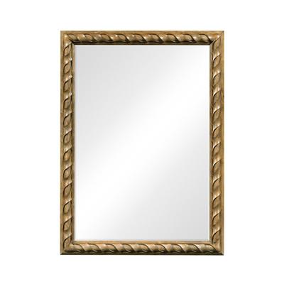 Jonathan Charles Cambridge Large Rectangular English Brown Oak Hanging Mirror