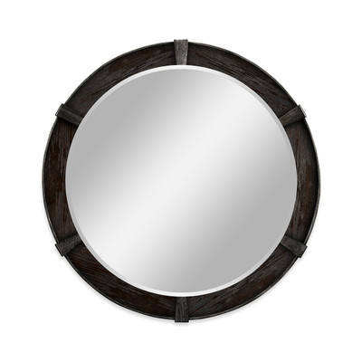 Jonathan Charles Casually Country Dark Ale Round Mirror