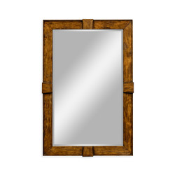 Jonathan Charles Casually Country Country Walnut Rectangular Mirror