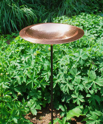 Hammered Copper Bowl with stand