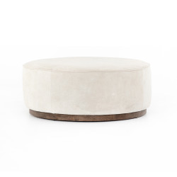 Four Hands Sinclair Large Round Ottoman - Whistler Oyster