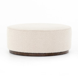 Four Hands Sinclair Large Round Ottoman - Knoll Natural