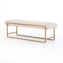 Four Hands Sled Bench - Thames Cream