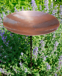 Burnt Copper Birdbath with stand