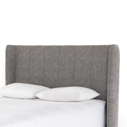 Four Hands Dixon Headboard - King - Bristol Charcoal