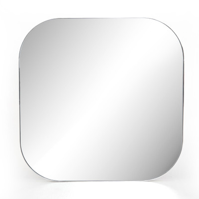 Four Hands Bellvue Square Mirror - Large - Shiny Steel