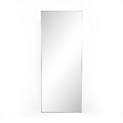 Four Hands Bellvue Floor Mirror - Shiny Steel