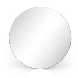 Four Hands Bellvue Round Mirror - Large - Shiny Steel