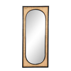 Four Hands Candon Floor Mirror - Ebony Black