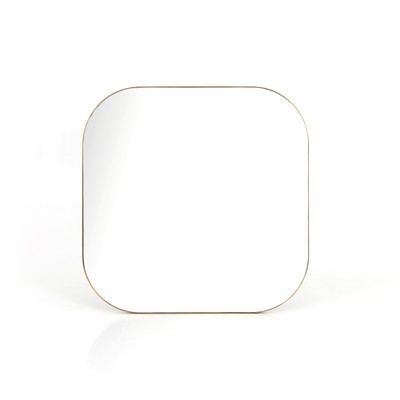 Four Hands Bellvue Square Mirror - Large - Polished Brass