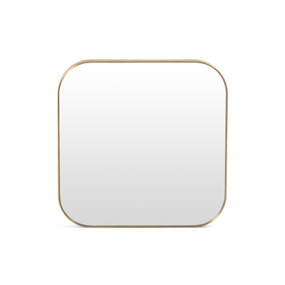 Four Hands Bellvue Square Mirror - Small - Polished Brass