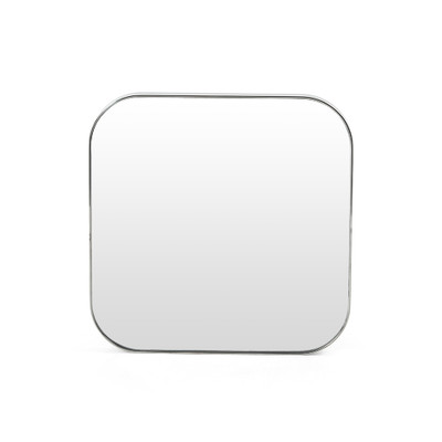 Four Hands Bellvue Square Mirror - Small - Shiny Steel