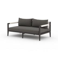 "Four Hands Sherwood Outdoor Sofa, Bronze - 63"" - Charcoal"