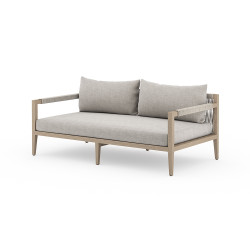 """Four Hands Sherwood Outdoor Sofa, Washed Brown - 63"""" - Stone Grey"""