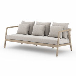 Four Hands Numa Outdoor Sofa - Washed Brown - Stone Grey