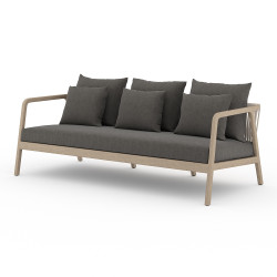 Four Hands Numa Outdoor Sofa - Washed Brown - Charcoal