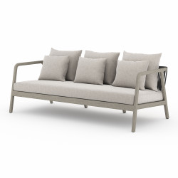 Four Hands Numa Outdoor Sofa - Weathered Grey - Stone Grey