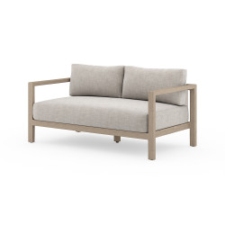 """Four Hands Sonoma Outdoor Sofa, Washed Brown - 60"""" - Stone Grey"""