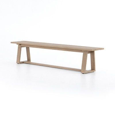 Four Hands Atherton Outdoor Dining Bench - Washed Brown