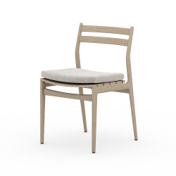 Four Hands Atherton Outdoor Dining Chair - Washed Brown - Stone Grey