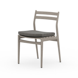 Four Hands Atherton Outdoor Dining Chair - Weathered Grey - Charcoal